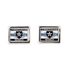 2nd ID Indianhead CIB Rectangular Cufflinks