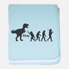 T Rex Stay baby blanket