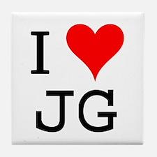 I Love JG Tile Coaster