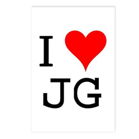I Love JG Postcards (Package of 8)