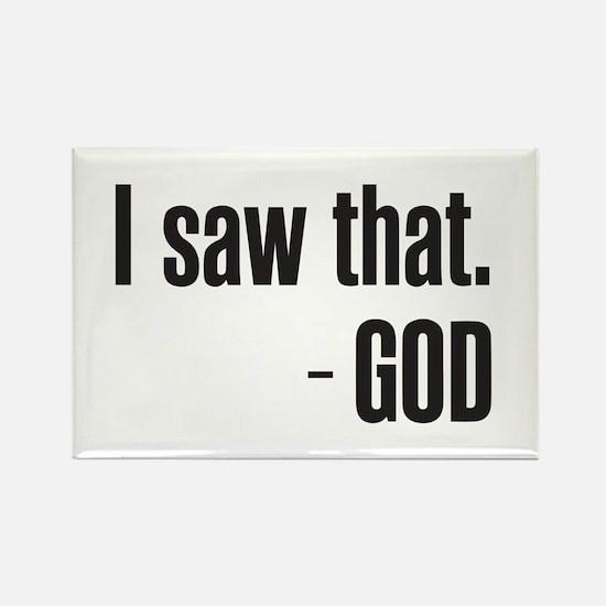 I saw that - GOD Magnets