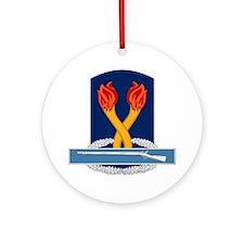196th Infantry CIB Ornament (Round)