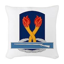 196th Infantry CIB Woven Throw Pillow