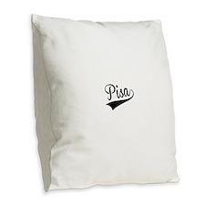 Pisa, Retro, Burlap Throw Pillow