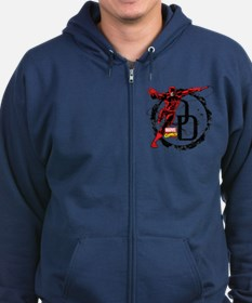 Daredevil Action Pose Zip Hoodie (dark)