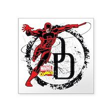 """Daredevil Action Pose Square Sticker 3"""" x 3"""""""