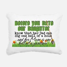 Before You Date Our Daug Rectangular Canvas Pillow