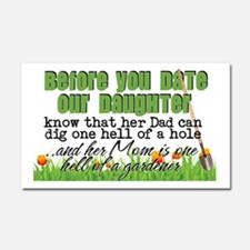 Before You Date Our Daughter Car Magnet 20 x 12