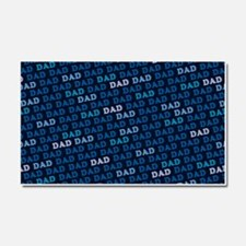 Dad Pattern Car Magnet 20 x 12