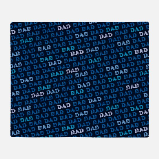 Dad Pattern Throw Blanket