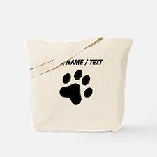 Custom Cat Paw Print Tote Bag