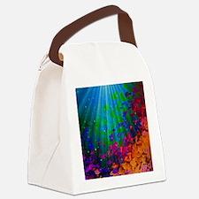Cute Beach art mermaids Canvas Lunch Bag