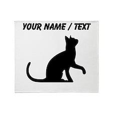 Custom Cat Sitting Throw Blanket
