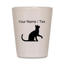Custom Cat Sitting Shot Glass