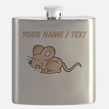Custom Brown Mouse Flask