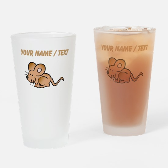 Custom Brown Mouse Drinking Glass