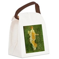 Flora Picking Flowers Canvas Lunch Bag