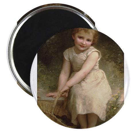 Plums Little Girl by Bouguereau Victorian Magnets