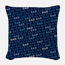 Dad Pattern Woven Throw Pillow