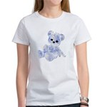 Blue & White Teddy Bear Women's T-Shirt