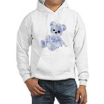 Blue & White Teddy Bear Hooded Sweatshirt