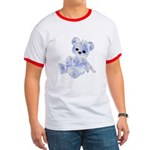 Blue & White Teddy Bear Ringer T