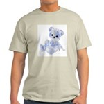 Blue & White Teddy Bear Light T-Shirt