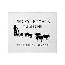 Crazy Eights Mushing Throw Blanket
