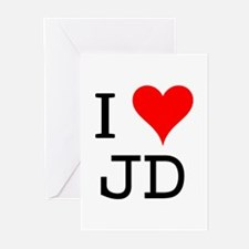 I Love JD Greeting Cards (Pk of 10)
