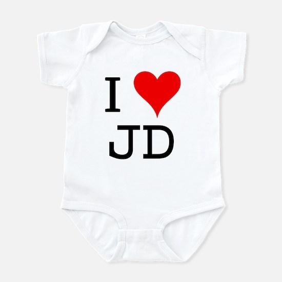 I Love JD Infant Bodysuit