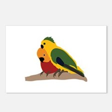 Two Parakeets Postcards (Package of 8)