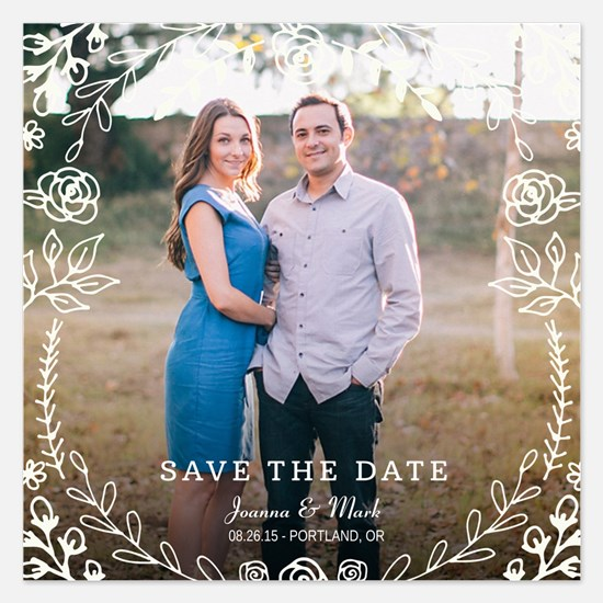 Sweet Floral Wedding Save The Date Invitations