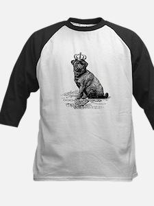 Vintage Black Pug Illustratio Kids Baseball Jersey
