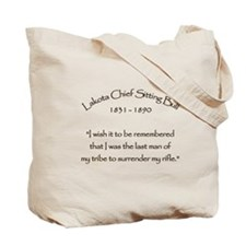 Lakota Chief Sitting Bull Tote Bag