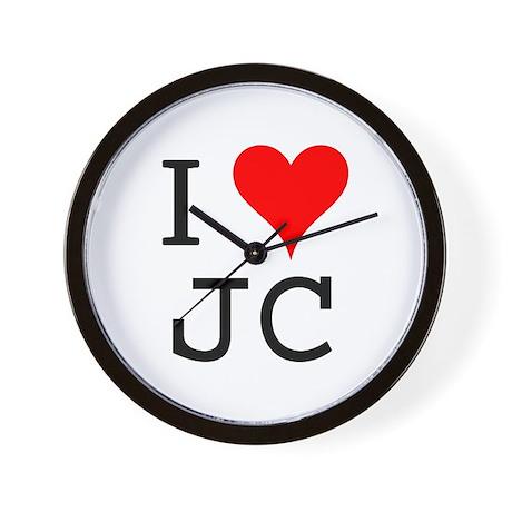 I Love JC Wall Clock