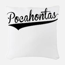 Pocahontas, Retro, Woven Throw Pillow