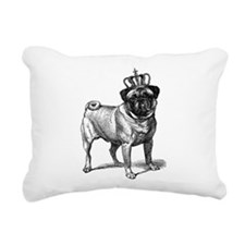 Vintage Fawn Pug with Cr Rectangular Canvas Pillow