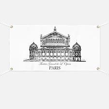 Vintage Grand Opera House, Paris Banner