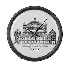 Vintage Grand Opera House, Paris Large Wall Clock