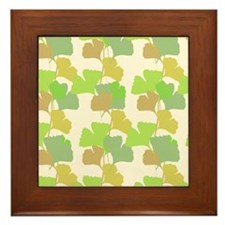Ginkgo Leaves Framed Tile