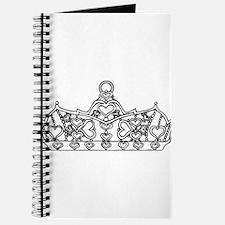 hearts crown tiara line art Journal