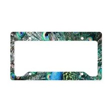 Beautiful Peacock License Plate Holder