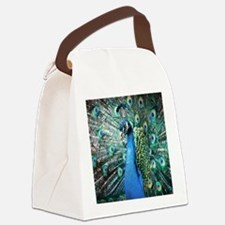 Beautiful Peacock Canvas Lunch Bag
