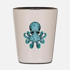Cute Blue Baby Octopus Shot Glass