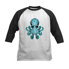 Cute Blue Baby Octopus Baseball Jersey