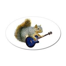 Squirrel Blue Guitar Wall Decal