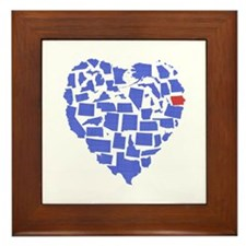 Iowa Heart Framed Tile