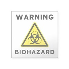 Biohazard Warning Sign Sticker