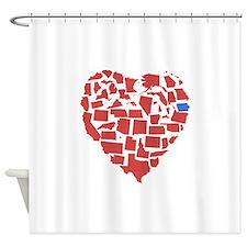Iowa Heart Shower Curtain