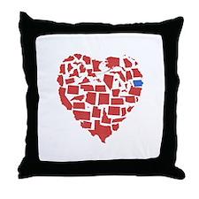 Iowa Heart Throw Pillow